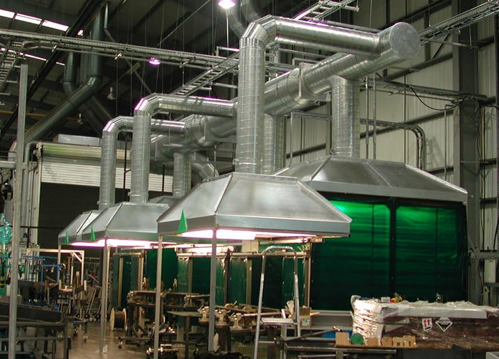 Welding Fume Extraction Systems : Welding fume extraction canopies weld canopy