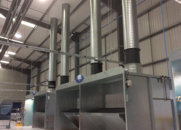 Dry Back Spray Booths