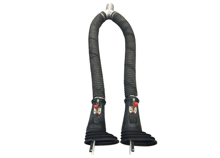 Fume Extractor for Twin Pipes Exhaust Adaptor for Twin Pipes