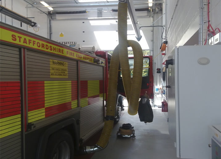 Fire Station Fire Engine Exhaust Extraction Systems