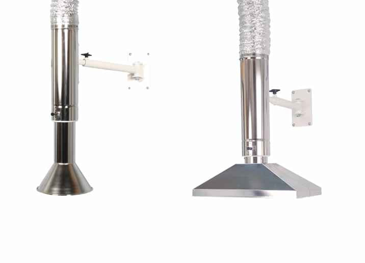 Extractor Fan Lab : Telescopic extraction arms fume