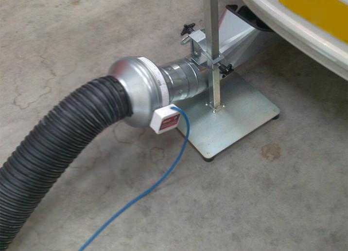 Vehicle Exhaust Kit Portable Exhaust Extractor Mobile