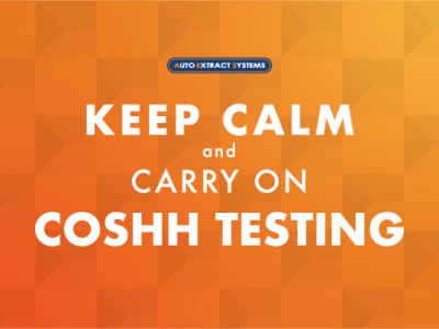 Keep Calm and Carry on COSHH Testing
